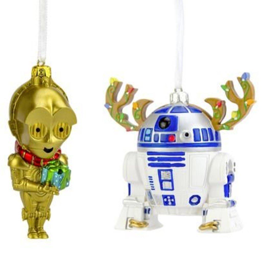 Amazon.com: 3d Star Wars R2D2 & C3PO Ornamento Set de dos ...