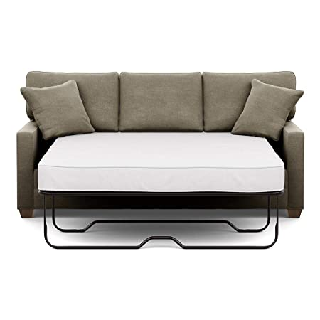 Ethan Allen Bennett Track-Arm Sofa, 78 Sleeper, Palmer Fog Chenille Fabric