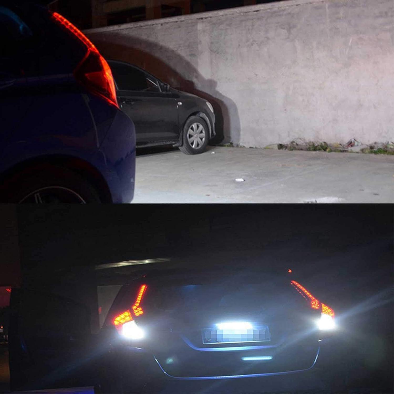 12V 30-SMD Dual Color White Red Universal Xotic Tech JDM Bolt-On LED License Plate Light Bar Brake Rear Fog Lamp