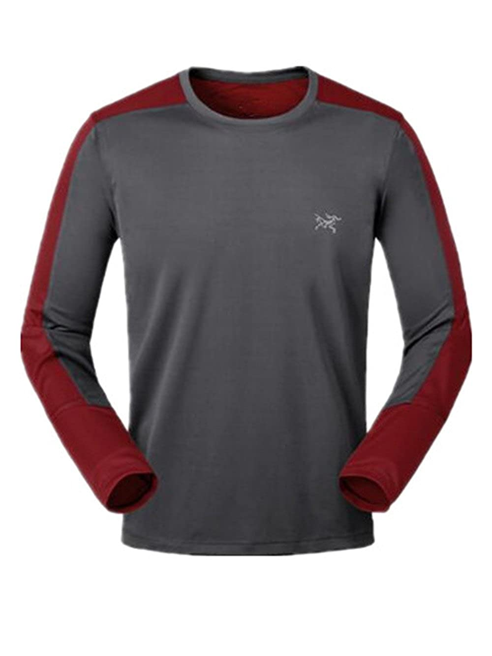 Gogofuture Mens Long Sleeve Tops Athletic Breathable Workout Moisture Wicking