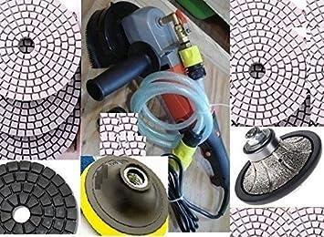 4 inch Diamond Polishing 12 Pads Damo Buff BEST QUALITY Granite Concrete Quartz