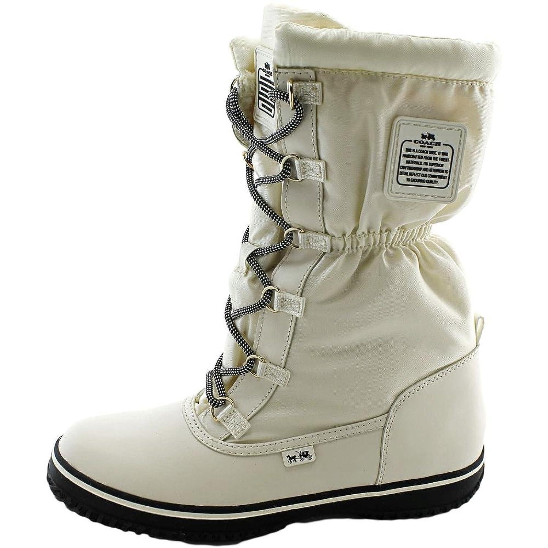 Amazon.com | Coach Women's Sage Lace-Up Cold Weather Boots, Chalk/chalk,  Size 5.0 | Snow Boots