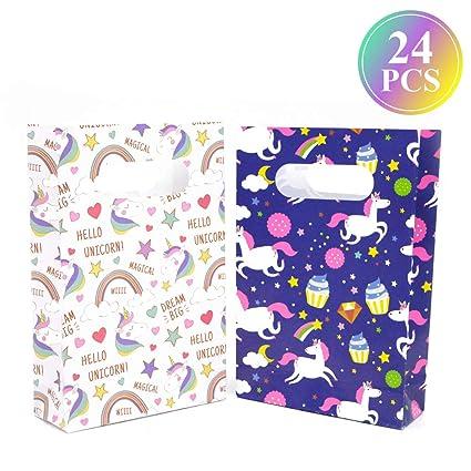 Amazon.com: Bolsas de regalo de unicornio para fiestas de ...