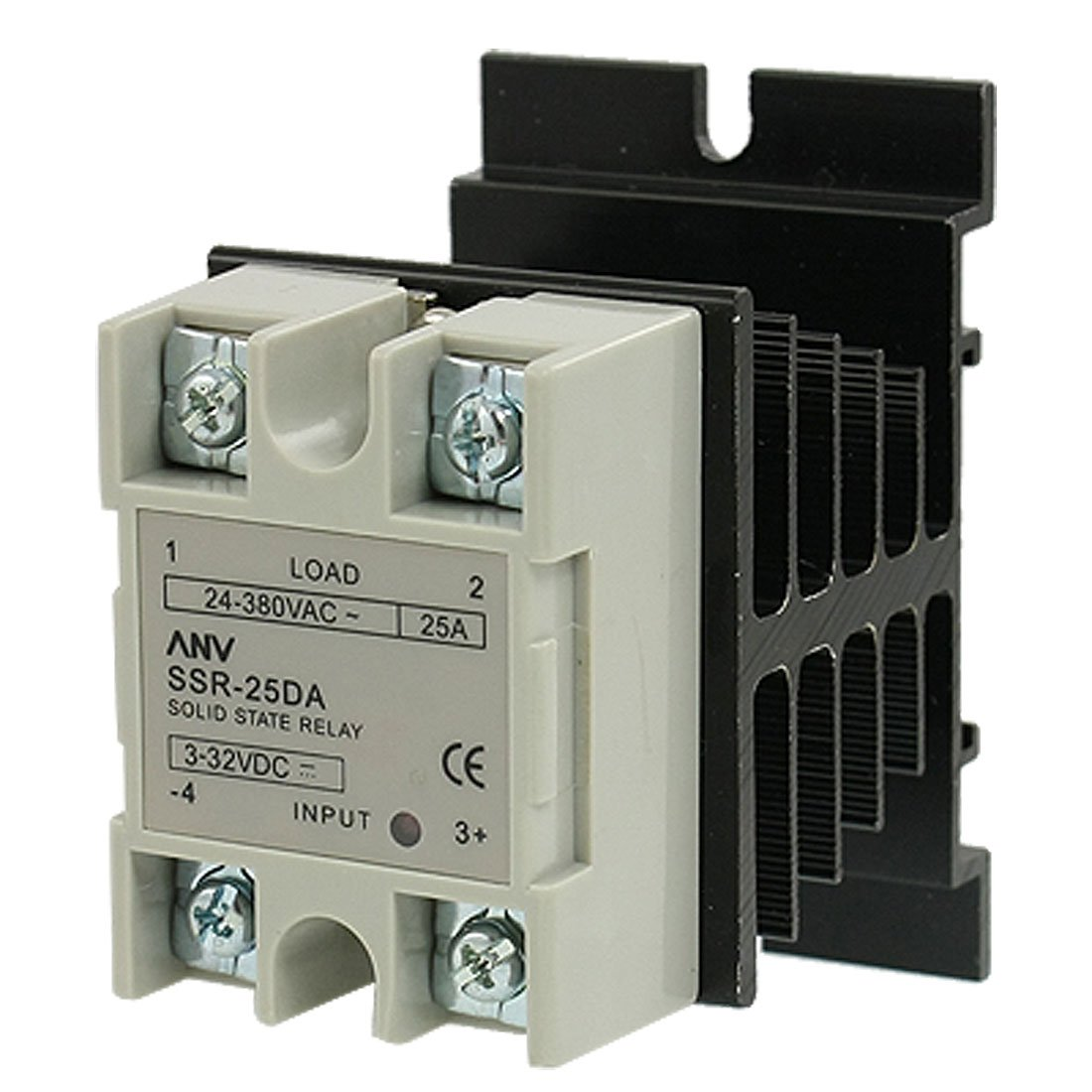 Uxcell Ssr 25 Da Solid State Relay And Heat Sink Amp 3 Vdc Working 32vdc 24 Vac 380 Industrial Scientific