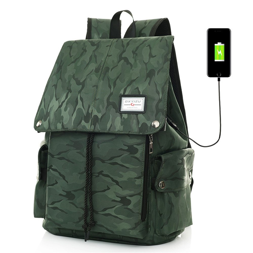 60%OFF UniquQ Business Laptop Backpack 15 Inch with USB Charging Port Anti-theft Camouflage Protective Water Resistant Padded Bag for School Work Business Hiking (green)