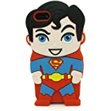 Mingfung 3D cute Superhero Cartoon Soft Rubber Silicone Back Case Cover Skin for iPhone 6 Plus 5.5-inch Red/Black