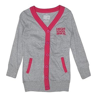 9c2247b11be Disney Big Girls Grey Fuchsia High School Musical Cardigan Sweater 12