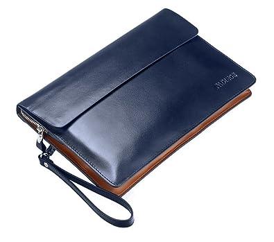b6d220ea32f0 Amazon   本革 メンズ セカンドバッグ クラッチバッグ A4 ビジネスバッグ 紳士用 ネイビー   クラッチ・セカンドバッグ