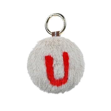 Amazon.com: Llavero con forma de bola de peluche, diseño de ...