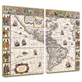 ArtWall Willem Blaeu 'Map of South America' Gallery-Wrapped Canvas Artwork, 24 by 36-Inch
