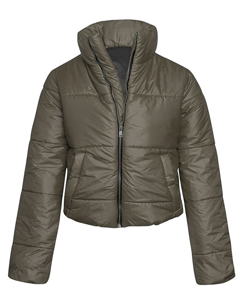 c2c95f023154 New in Fashion   Cropped Winter Jacket Metal Zip Closure   Elasticated Hem  Comfortable Polyester Lining   Filling Available in Black