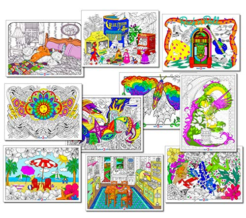 Stuff2Color Line Art Bundle - 10 Poster Pack II