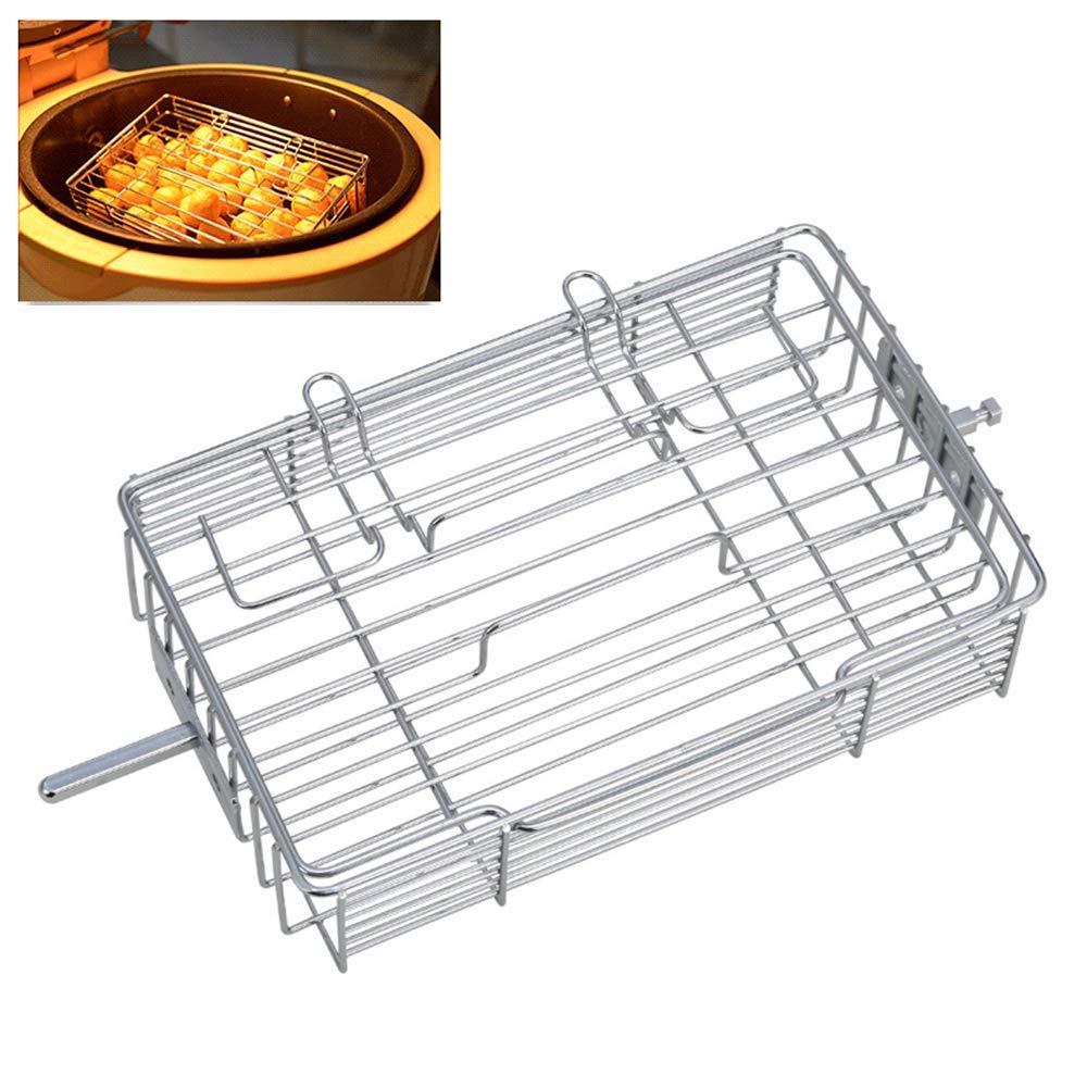 kbxstart Adjustable Rotisserie Basket,Non-Stick Flat Spit ...