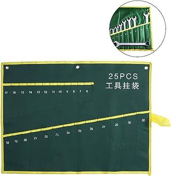 Estuche enrollable, Bolsa de Herramientas Estuche porta herramientas Enrollable bolso de herramienta de la llave de llave de la bolsa de los bolsillos para los artesanos (25PCS): Amazon.es: Bricolaje y herramientas