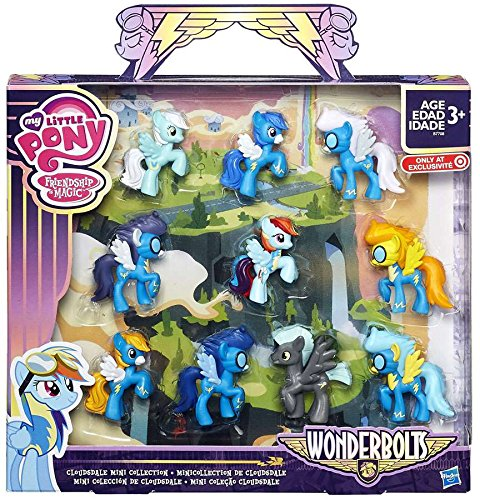 My Little Pony Friendship is Magic Wonderbolts Cloudsdale Mini Collection Exclusive 3 Mini Figure 10-Pack