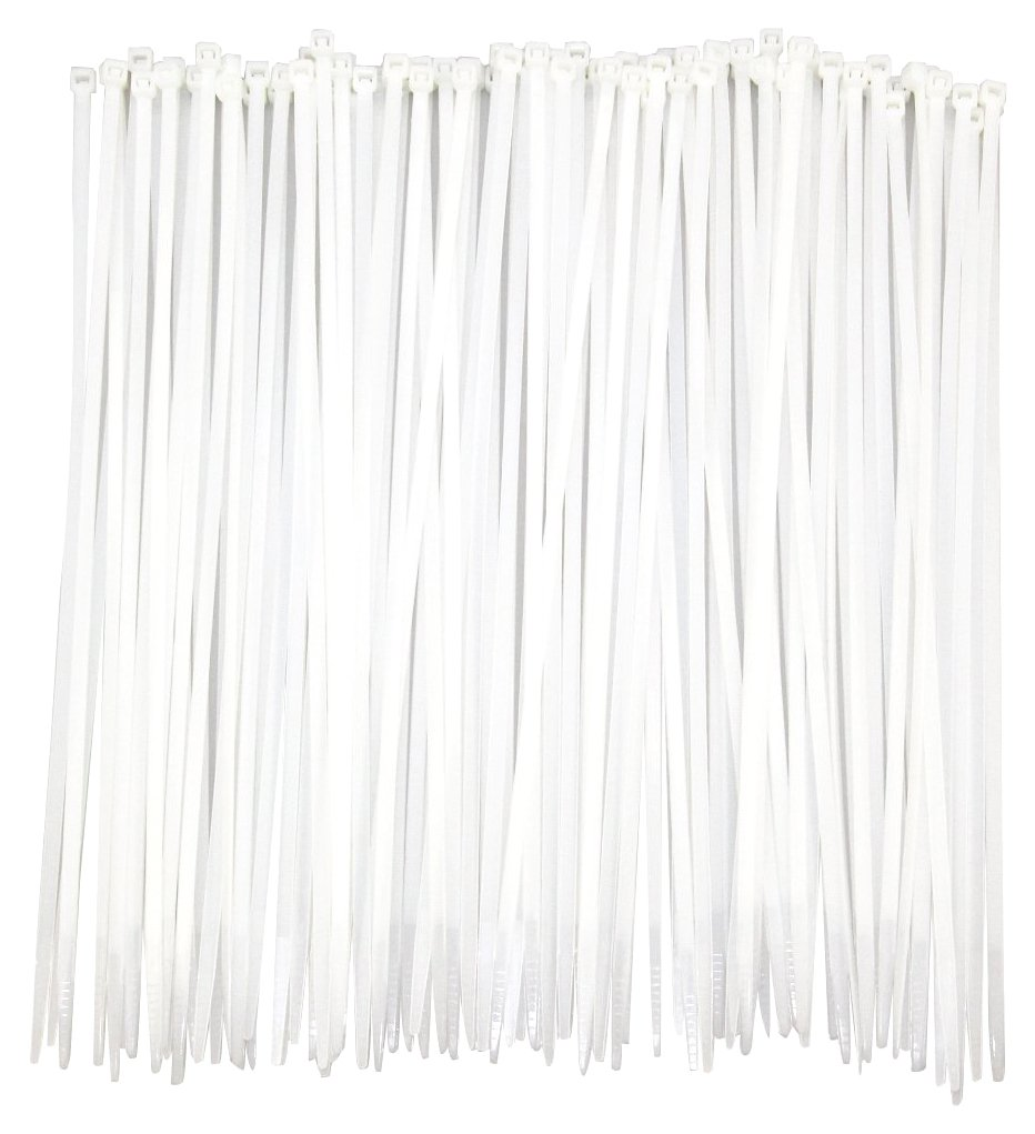 100pack Extra Heavy Duty 12 inch Standard White Cable Ties Industrial Strength Durable Outdoor Use Zip Ties
