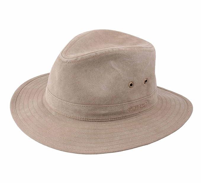 Stetson - Fedora Hat Men Traveller Delave  Amazon.co.uk  Clothing ccf981c41ab
