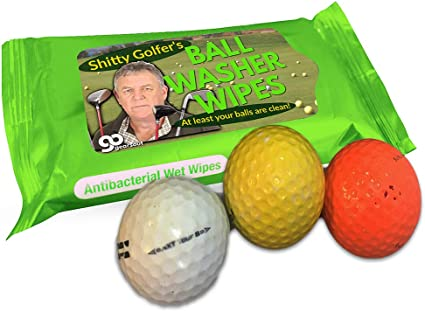 Amazon Com Gears Out Shitty Golfer S Ball Washer Wipes Funny Golf Gag For Men And Women Golfing Joke For Terrible Golfers Keep Your Balls Clean Sports Outdoors