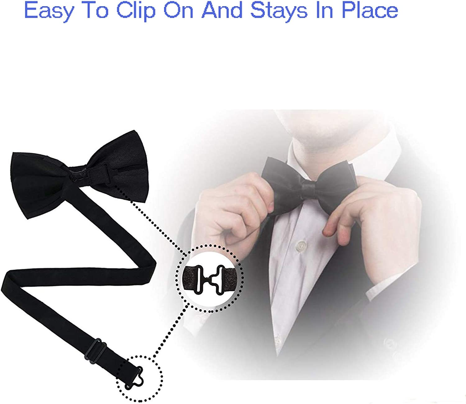 Men Pizza Printed Adjustable Bowties For Wedding Party Dance