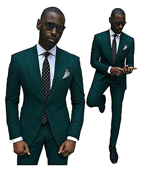 Suits For Wedding.Botong Green Slim Fit Wedding Suits For Men 2 Pieces Groom Tuxedos