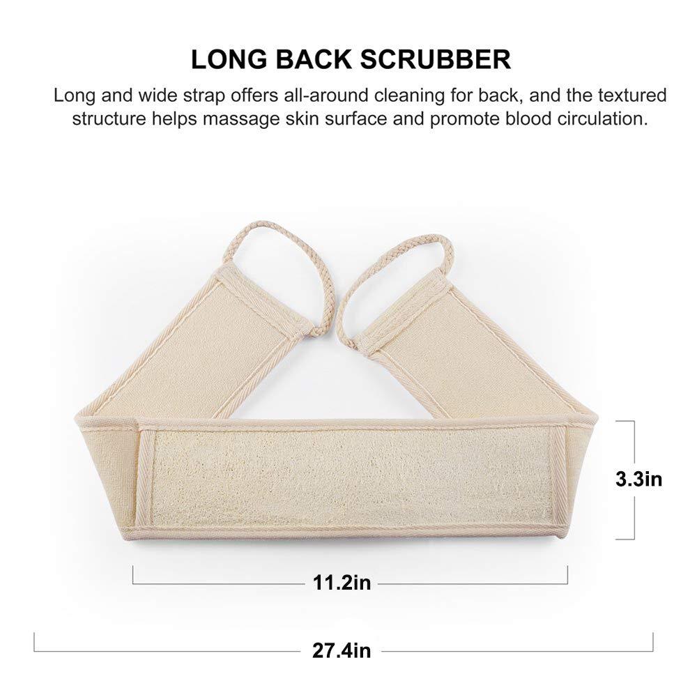 VIPpro Exfoliating Natural Egyptian Loofah - 3 Packs Organic Luxurious Body Skin Scrubber Scrub Bath Shower Exfoliating Back Scrubber Loofah Sponge