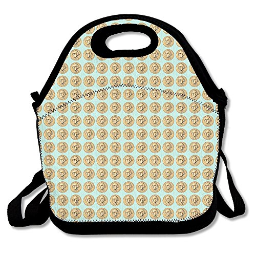 Kids George Washington Costumes Kit (Washington Dollar Coin Reusable Insulated Lunch Bag For Work Office Picnic)