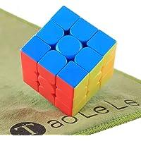 TaoLeLe Speed Cube Moyu Mofang Jiaoshi Meilong 3x3x3 Stickerless Magic Cube with Cleaning Cloth