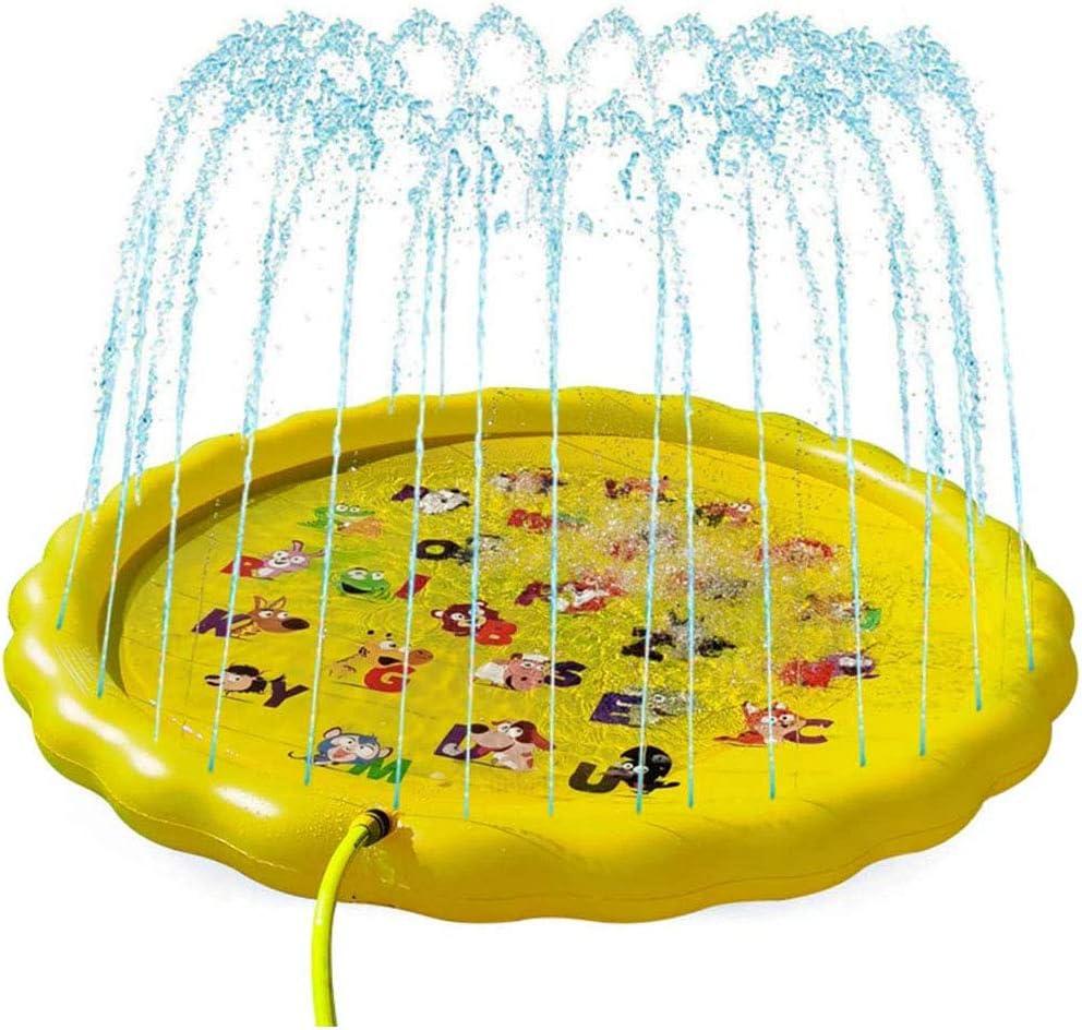 Espolvorear 67 Pulgadas y Splash Juego de Agua Pad, Agua Inflable Estera del Juego del bebé de los niños, Vadear Piscina, Jardines Patios Traseros Juegos de Verano de pulverización Columna