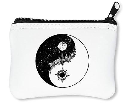 Yin Moon Sun Billetera con Cremallera Monedero Caratera ...