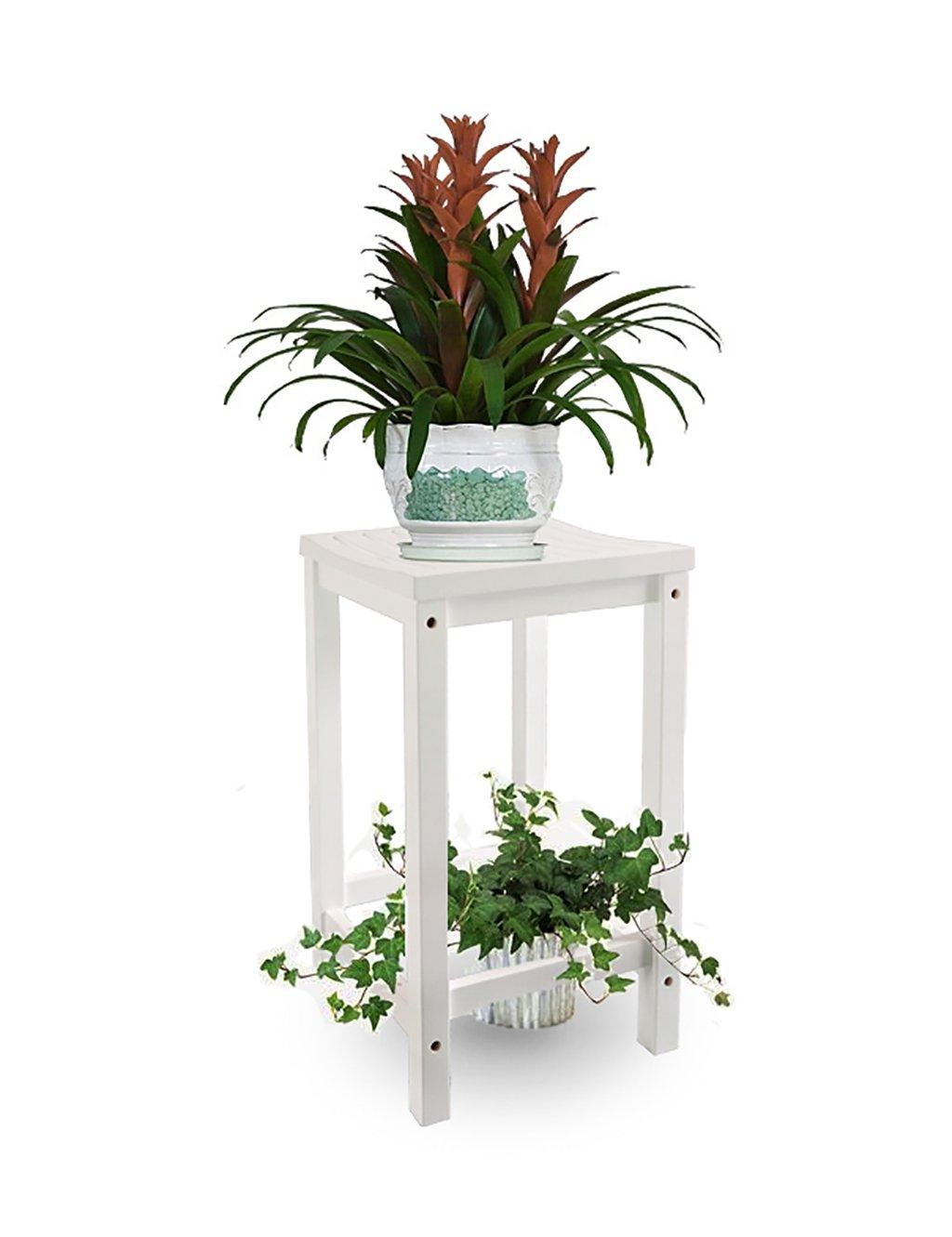 Europäische Einfache Massivholz Blumenregal Multilayer Blumenregal Boden Typ Blumenregal Balkon Boden Pflanzer Regal Einfache und kreative Wohnzimmer Indoor Flower Rack