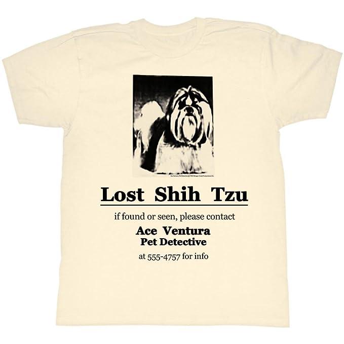 American Classics Ace Comedia venturapet Detective Crema perdido shih tzu Camiseta para Hombre: Amazon.es: Ropa y accesorios