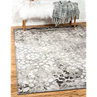 Unique Loom Sofia Collection Dark Gray 5 x 8 Area Rug (5 x 8)
