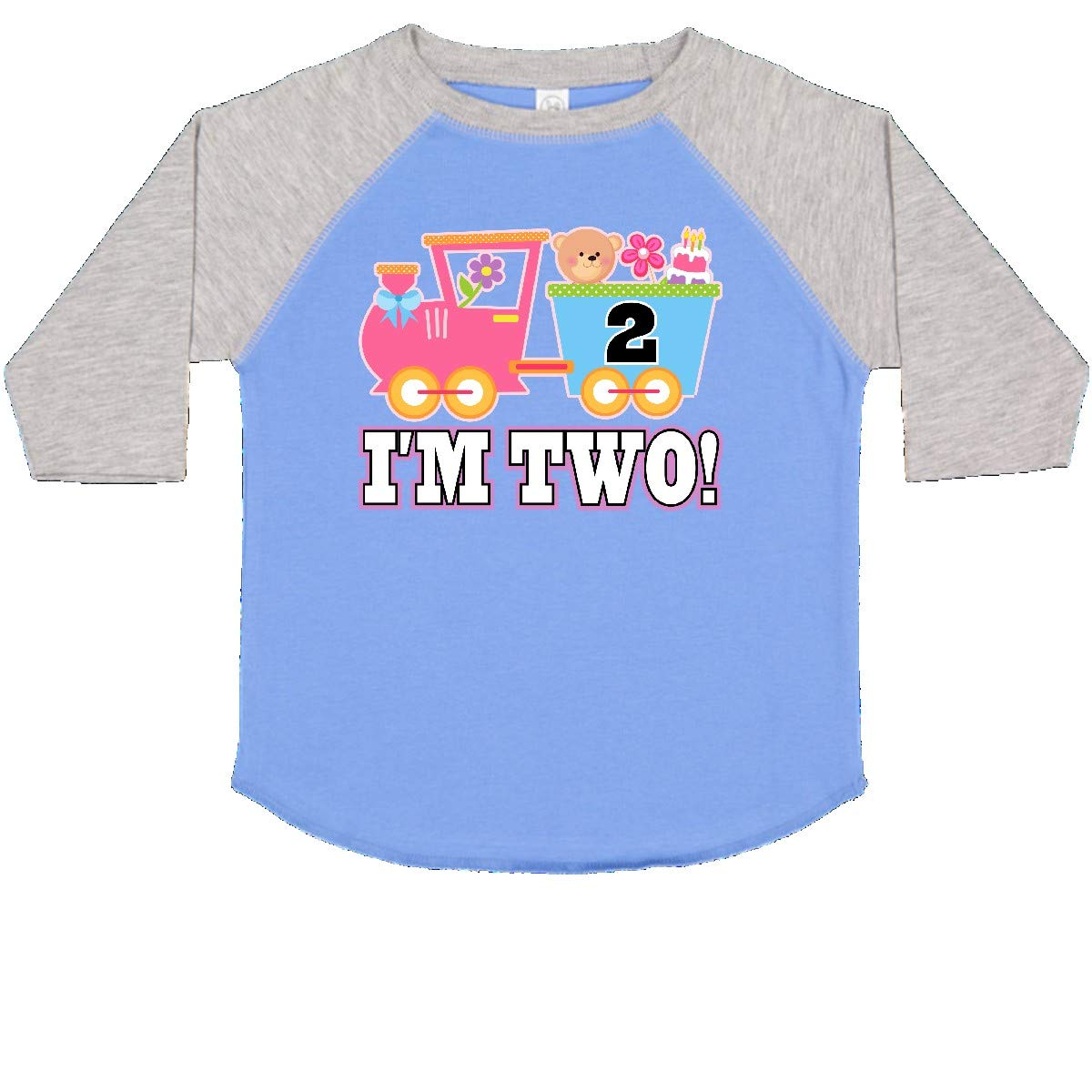 inktastic 2nd Birthday Cute Pink Train Toddler T-Shirt