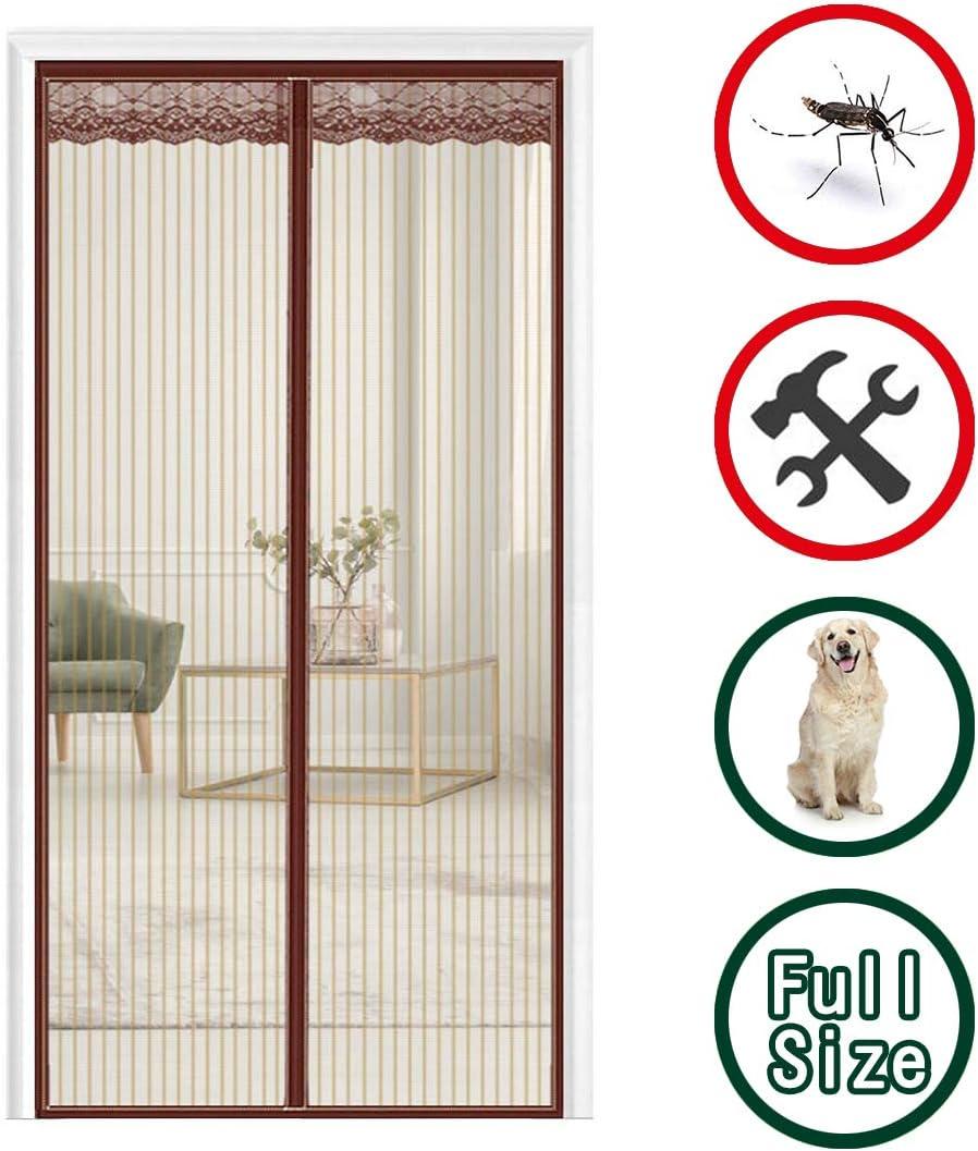 70x190cm 28x75inch Rideau Moustiquaire Moustiquaire sur Mesure de Porte Anti Insecte Mouche Moustique pour Porte d Entr/ée Int/érieur//Patio GUOGAI Rideau Aimant/é pour Brown
