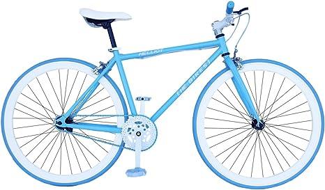 Fixie Helliot Fixie Soho H01 Bicicleta Urbana, Hombre, Azul Claro ...