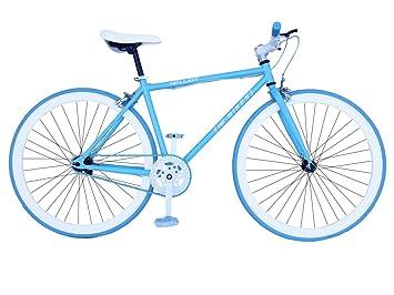 Fixie Helliot Soho H01 - Bicicleta Fixie, Cuadro de Acero, Frenos V-Brake