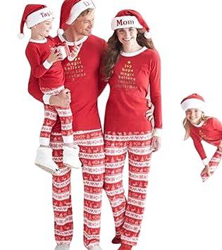 Weihnachten Pyjama Familie.Yaodgfa Ugly Weihnachten Pyjama Schlafanzug Familie Weihnachts Xmas Weihnachtspyjama Nachtwäsche Hausanzug Sleepwear Sweater Set Damen Herren Kinder