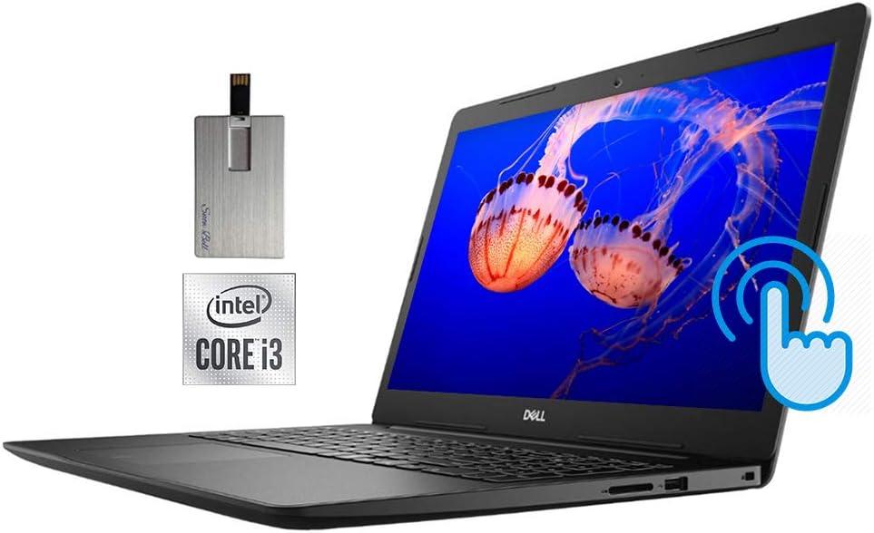 "2020 Dell Inspiron 15.6"" HD Touchscreen Laptop Computer, Intel Core i3-1005G1 CPU, 8GB RAM, 1TB HDD+ 256GB SSD, MaxxAudio Pro, Intel UHD Graphics, HD Webcam, Win 10 S, Black, 32GB Snow Bell USB Card"