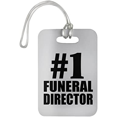 Designsify Number One #1 Funeral Director - Luggage Tag ...