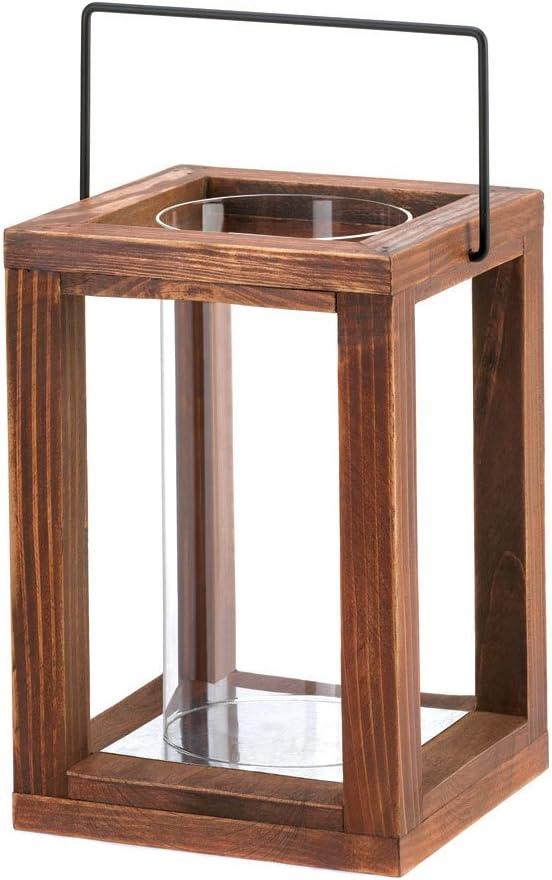 Koehler 10015437 9 Inch Rustic Garden Wooden Lantern
