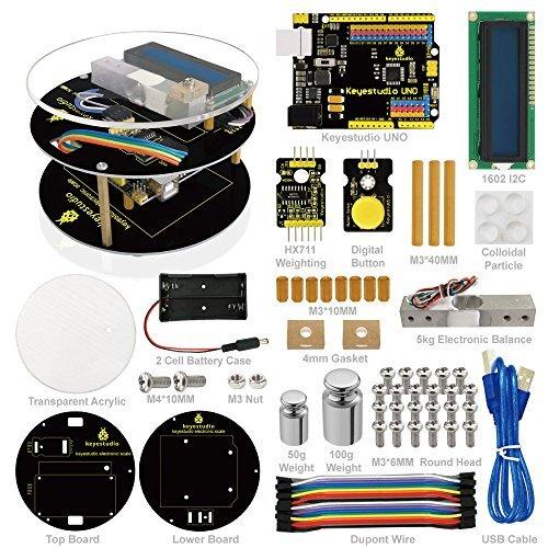 KEYESTUDIO Arduino用DIY電子スケール プログラミング学習教材Arduino・実用・工作・趣味 知育玩具 おもちゃ 学生 ギフト 日本語PDFチュートリアル