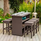 Rudolfo Outdoor 7pc Bar Set