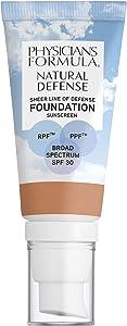 Physicians Formula Natural Defense Sheer Line of Defense Foundation SPF 30, Light-to-Medium, 1 Ounce
