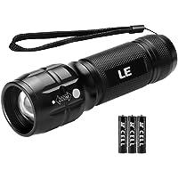 LE Zoombar Superhelle CREE LED Taschenlampe, inklusive 3 AAA Batterie, LED Handlampe, LED Camping Handlampe, Mit einstellbarem Fokus