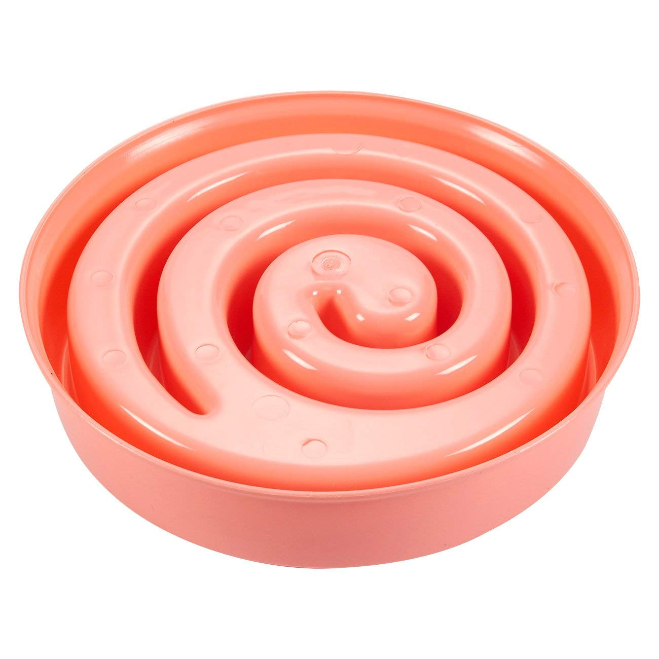 Juvale 2-Pack Interactive Spiral Dog Bowl Pink and Green Slow Feeder Pet Dish to Stop Bloat