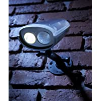 Auraglow Luz de Seguridad Super Brillante con Sensor PIR de Movimiento, Inalámbrico para Exteriores, Alimentado con Energía Solar