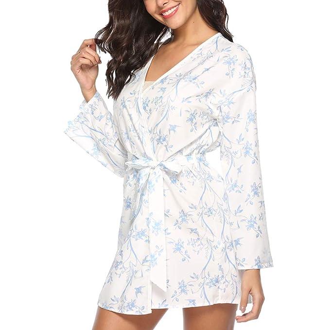 bb498138d4 Juleya Kimono Donna Robe Vestaglie Corte Classici Accessori da Sposa Casual  da Notte: Amazon.it: Abbigliamento