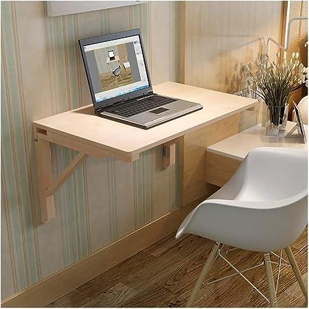 Plegable Mesa de Trabajo, Wall Montado en mesa plegables de, Gota Hoja turística, casero plegable Cocina computadora de oficina Workbench Comedor Barra de tabla del escritorio (Size : 120cm×50cm) : Amazon.es: