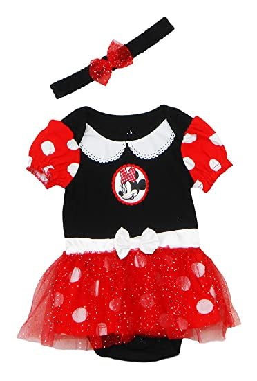 8615ae212 Amazon.com: Disney Newborn/Infant Girls Minnie Mouse 2 Piece Onesie ...