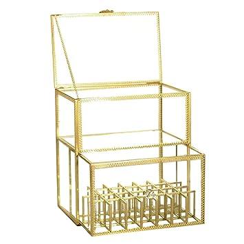 Vintage Glass High End Perfume/Jewelry/Cream Display Lipstick Holder Dust  Free Transparent